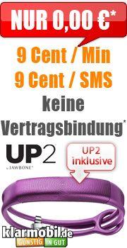 2x Handy-Spar-Tarif + Jawbone UP2 mit Vodafone Klarmobil Handy-Spar-Tarif Duo…