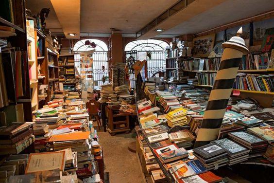 Libreria Acqua Alta- Bookstore Venice Italy