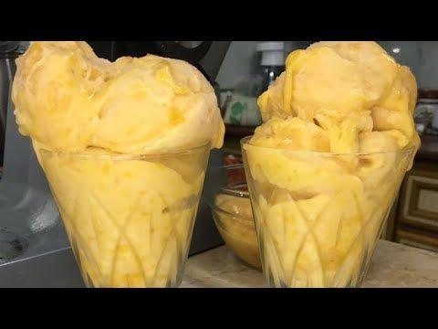 ايس كريم خوخ تجارى بمكونات من بيتك وتعالى جربى Youtube Ice Cream Cooking Food
