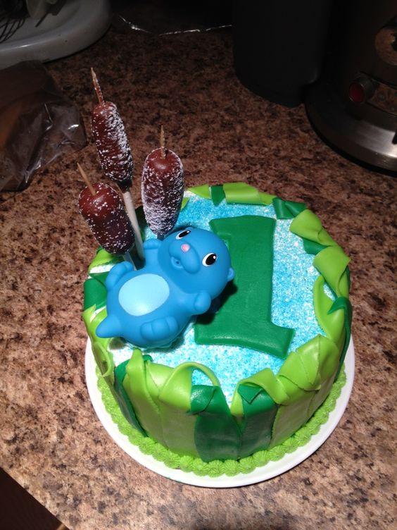 Pond Animals 1st Birthday Cake #3