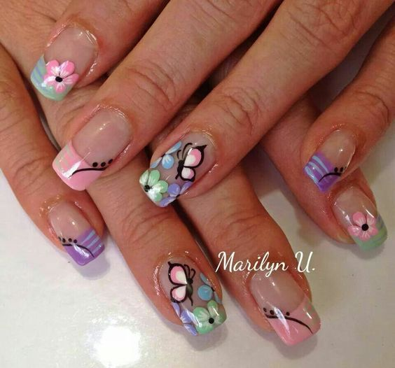 flores mariposa