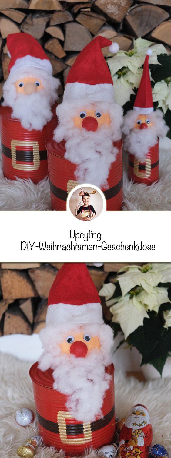 Mit Nur Wenigen Sachen Kannst Du Diese Upcyling Diy Weihnachtsmann Geschenkdose Basteln Geschenkdose Diy Nik Basteln Weihnachten Geschenke Weihnachtsmann