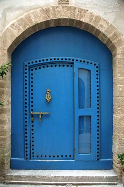 door of the very blue kind: