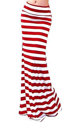 VIVICASTLE Women's Asymmetric Striped Fold Over Waist Lon... http://www.amazon.com/dp/B01D3W2I9C/ref=cm_sw_r_pi_dp_Jvogxb17EG0C0