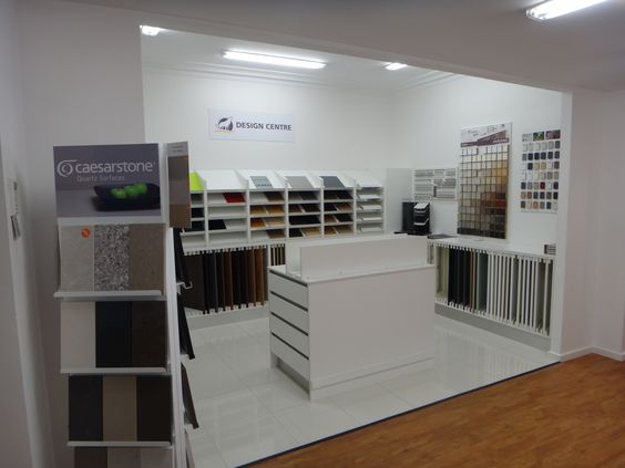Design Centre @ Essendon Showroom - Mix & match colours of doors, benchtops, splashbacks & handles to find your perfect match for your custom made kitchen.