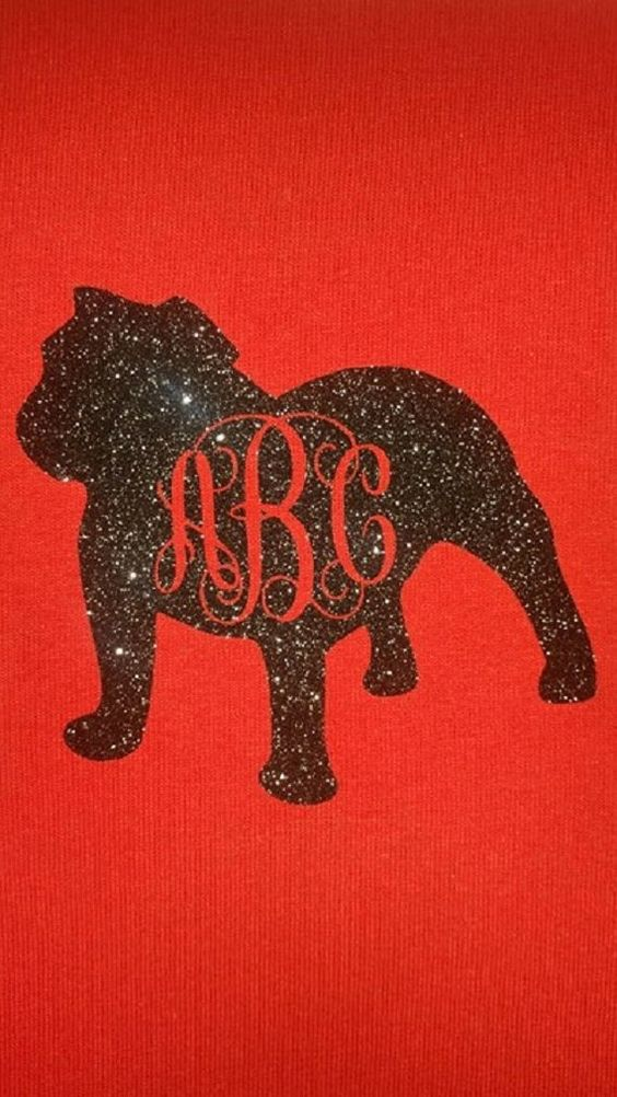 Georgia Bulldog UGA University of GA Monogram Decal Sticker Koozie Shirt Glitter Personalize Football Season Mascot by InYourDreamsShop on Etsy