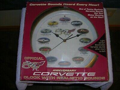 Ad Ebay Link Corvette Official 50th Anniversary Wall Clock Wall Clock 50th Anniversary Clock