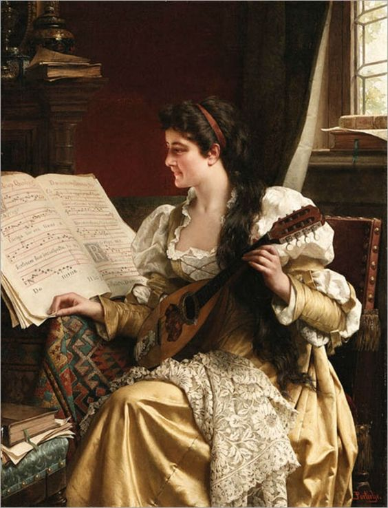 ♪ The Musical Arts ♪ music musician paintings - Jan Frederik Pieter Pontielje
