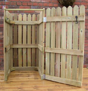 17 Best Images About Portable Privacy Fence Trash Bins