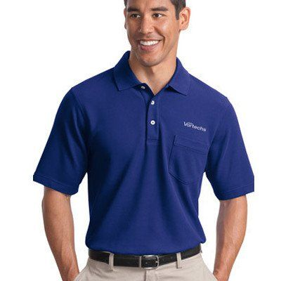 Custom embroidered pocket polo shirts are always very for Polo work shirts with company logo