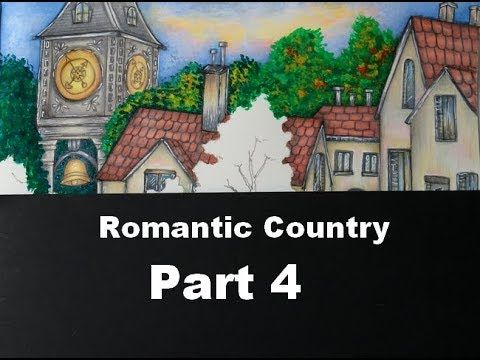 How I Color The Trees And Chimney Romantic Country By Eriy Part 4 Youtube Romantic Country Romantic Coloring Books