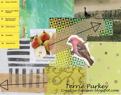 Creative Explorer: collage #184 with bird by Terrie Purkey