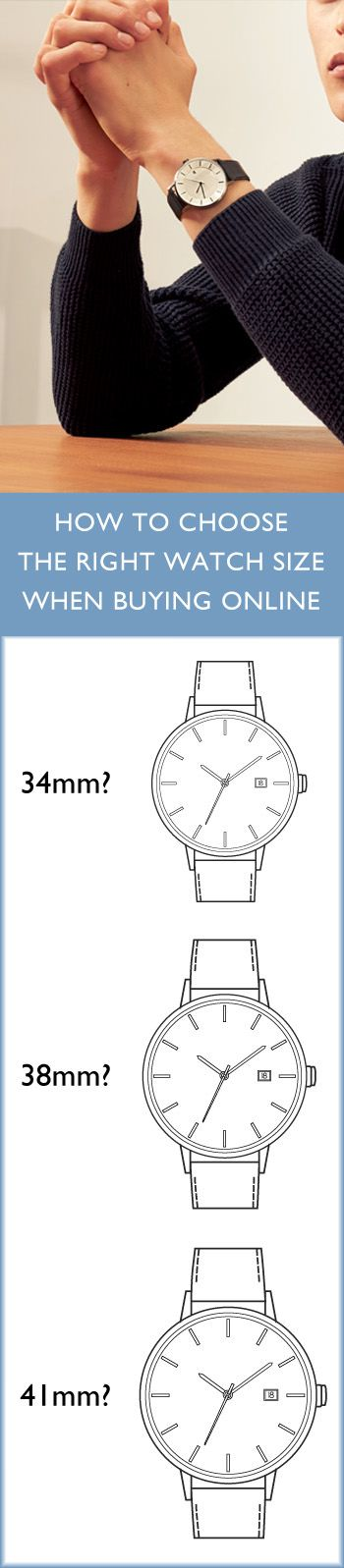 Still haven't found the perfect size for your wrist? Here's what we suggest for Linjer watches for men and women | 34mm: feminine and elegantly proportioned, for women with small and medium wrists | 38mm: perfect for women with larger wrists | 41mm: for women who want an oversized watch face | Our watches come in all three of these sizes.