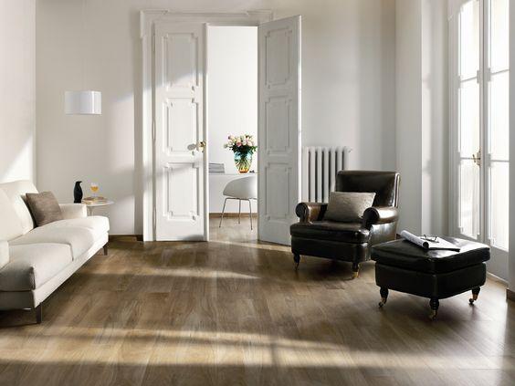 Tile Living Room Photo