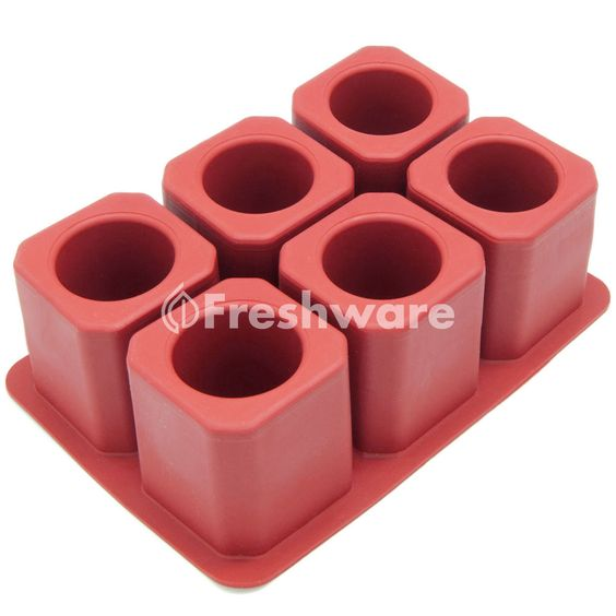 Freshware 6-Cavity Square Ice Shot Glass Silicone Mold #Freshware