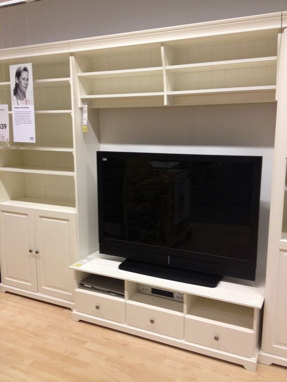 Ikea Tv Stand And Built In Wall Unit Ikea Built Ins