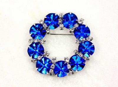 Vintage Bermuda Blue Eisenberg Ice Wreath Brooch by imagiLena http://etsy.me/1vD1mSf via @Etsy #pottiteam #jewelry