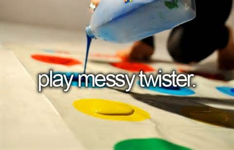 Play Messy Twister With Paint!
