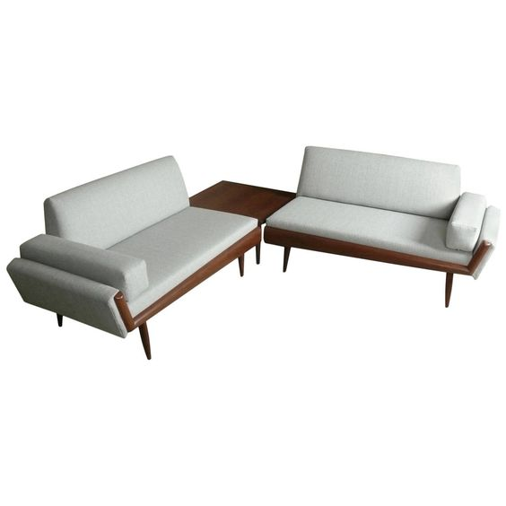 Adrian Pearsall Sectional Sofa With Corner Table | Corner table Adrian pearsall and Sectional sofa  sc 1 st  Pinterest : sectional sofa with corner table - Sectionals, Sofas & Couches
