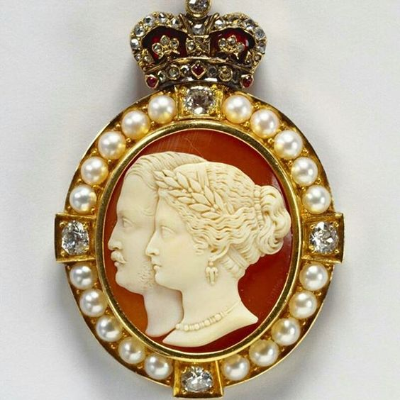 C.1863, Queen Victoria and Prince Albert cameo                                                                                                                                                                                 More