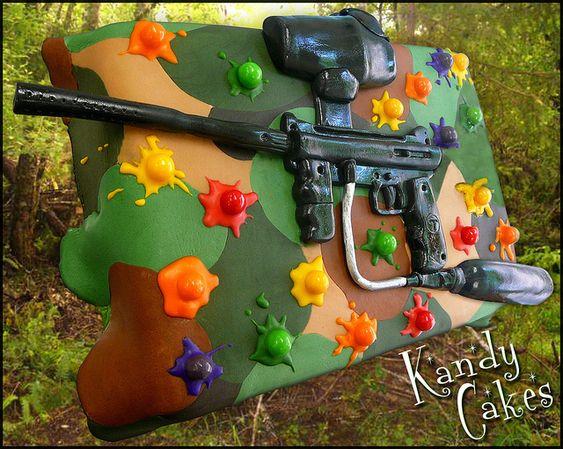 Paintball Cake by Kandy Cakes by Leeroy Rokkenröhl (Formerly of Kandy Cakes), via Flickr
