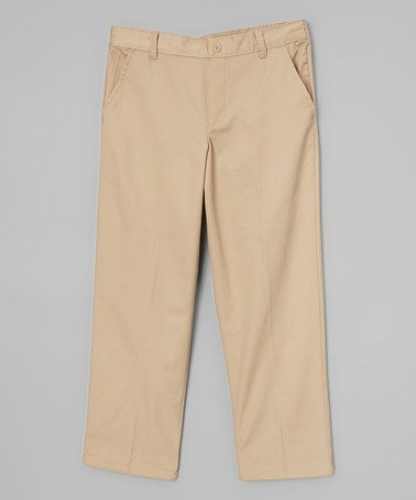 This Khaki Trouser Pants - Husky by French Toast is perfect! #zulilyfinds