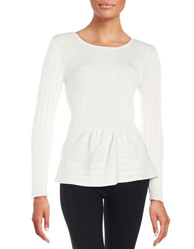 Brands | Sweaters | Garden Oasis Peplum Sweater | Lord and Taylor