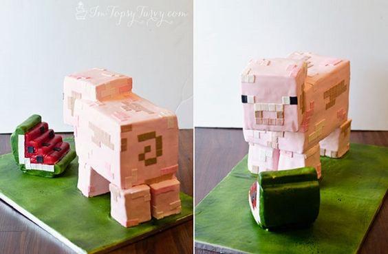 Pastel de cerdo Minecraft