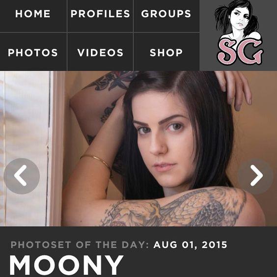 Decided to sleep in for the first time in forever and when I woke up I saw that my set was set of the day on @suicidegirls Go get a membership if you haven't already and check it out!!