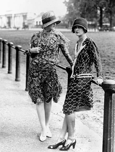 La mode à Ascot (Grande-Bretagne), en 1925.