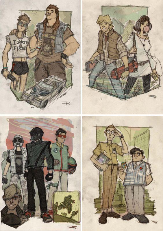 #starwars as 80s highschool students. deviantArtist ~DenisM79: http://j.mp/PnqGqS