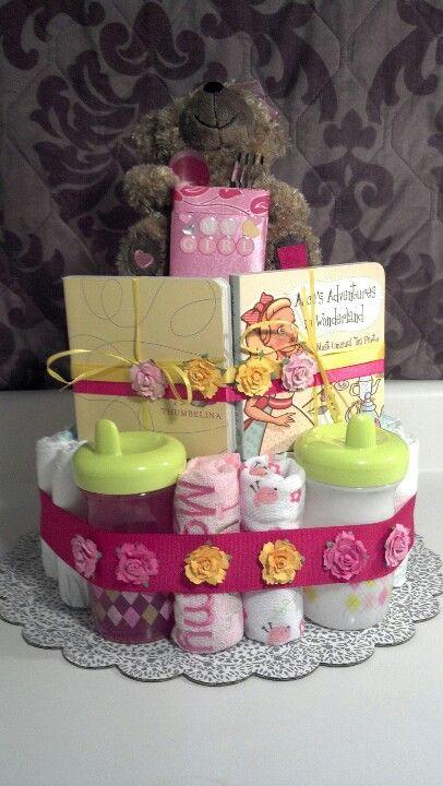 1 year old girl diaper cake
