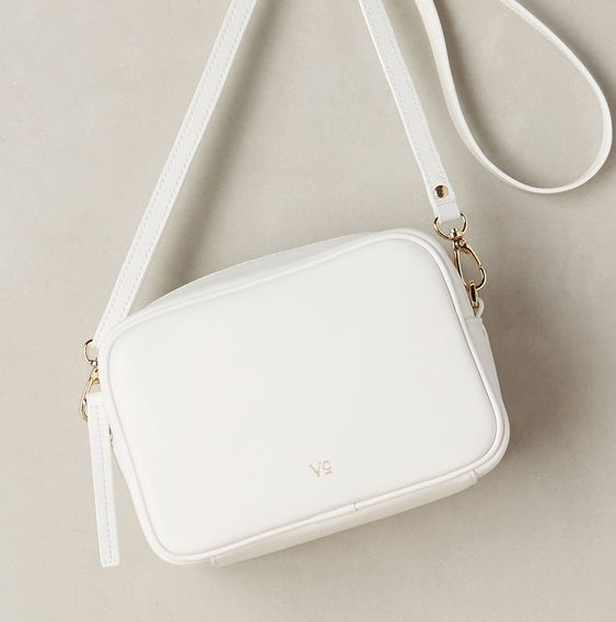 Vasic Collection Anselmo Crossbody Bag in White