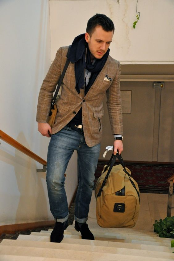 worn jeans & jacket combo . easy style