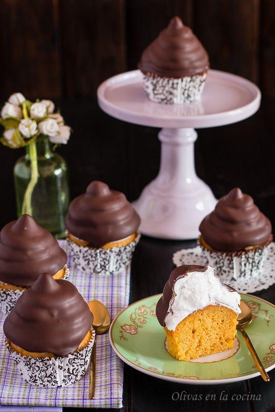 Olivas en la cocina: Hi-hat Cupcakes de calabaza