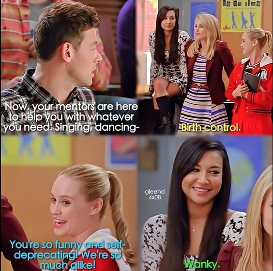 Old Glee club meets new Glee club I thought kitty was a big ass fangirl in this scene