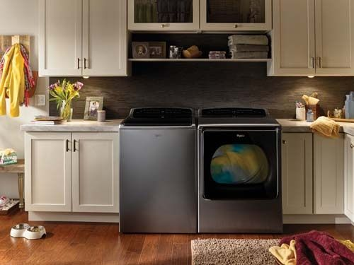 Whirlpool Smart Top Load Washer and Dryer- This smart pair uses technology to power philanthropy. Through the Connect to Care program, families donate a small amount to Habitat for Humanity with every load of laundry. Through the mobile app, users can manage wash and dry cycles while away from home. The appliances also integrate with the Nest thermostat, and the dryer can switch to the energy-saving Eco Mode when the thermostat is set to Away.