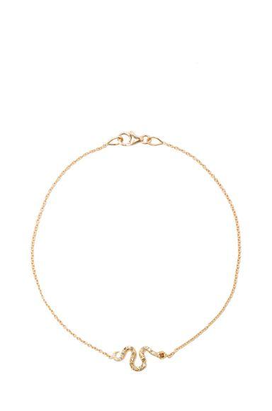 Ileana Makri|Little Snake Bracelet in Yellow Gold