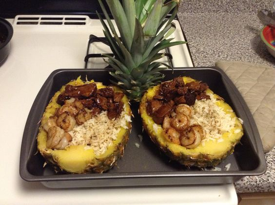 pineapple boats rice pineapple and more shrimp and rice teriyaki ...