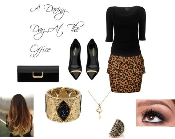"""A Daring Day At The Office"" by nicole-dccv on Polyvore"