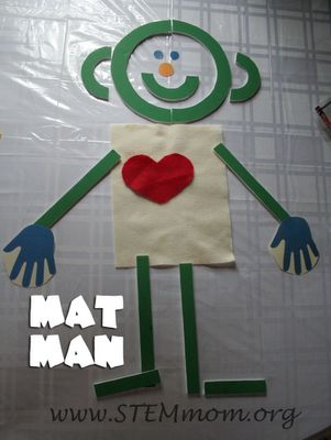 STEM Mom: Mat Man-Handwriting without Tears...I made my letters out of foam board instead of buying the wooden set for 33 dollars!