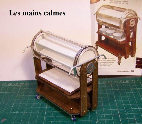 les mains calmes: Chariot à dessert et confection de roulettes