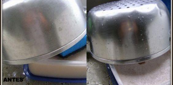 Pasta para limpar panelas e dar brilho
