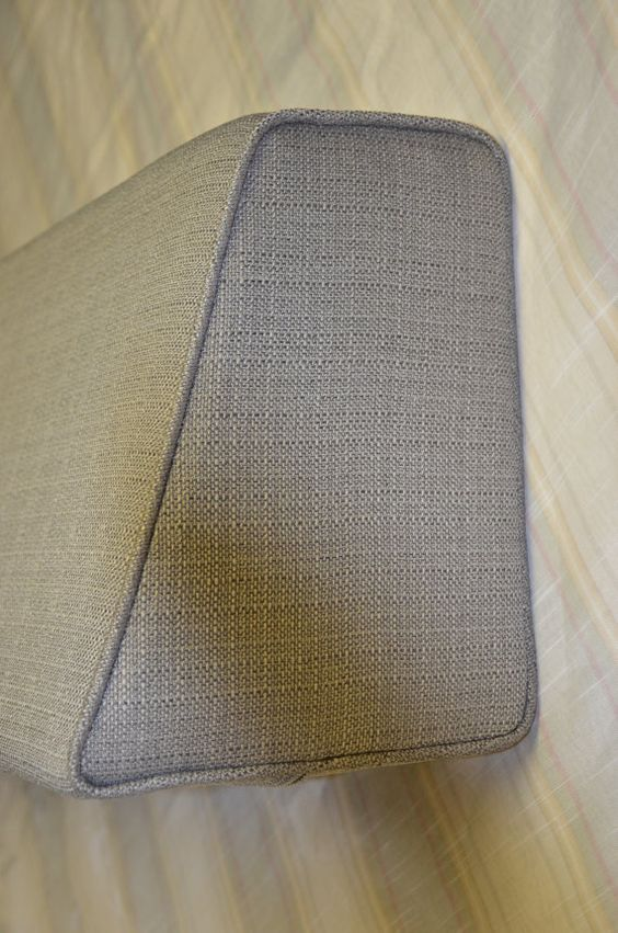 Daybed Wedge Bolster Foam And Cover Linen Silver Grey