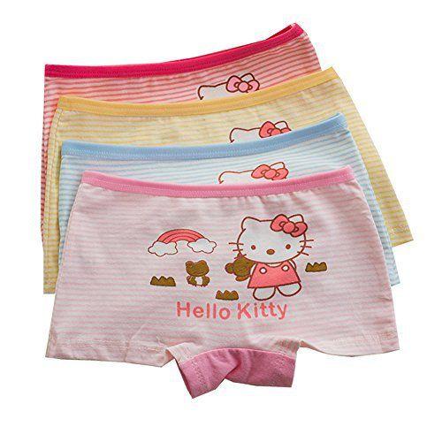 YUMILY Toddler Girls Cotton Hellokitty Boyshorts Cartoon Character Underwear 4 Multipack