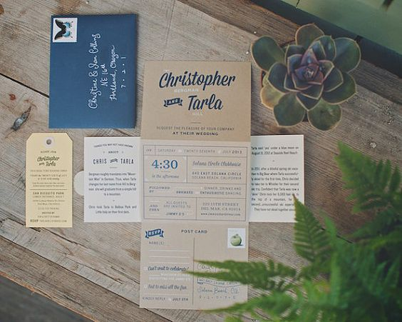 The Driftwood ScreenPrinted Kraft TriFold by woodandgrain on Etsy, $6.00