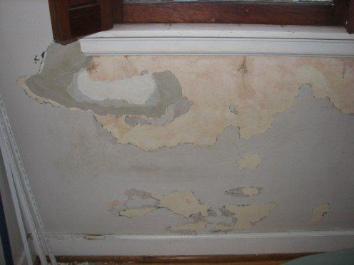 Cleaned And Scraped Ready For Repair Cracked Paint Wall Painting Paint Repair