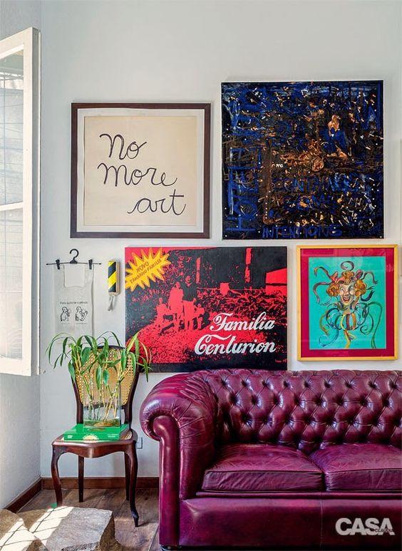 Casinha colorida: Home tour: casa de colecionador