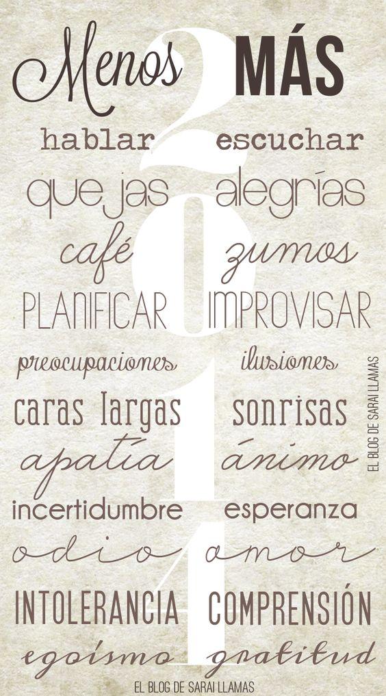 Menos y más... #palabras
