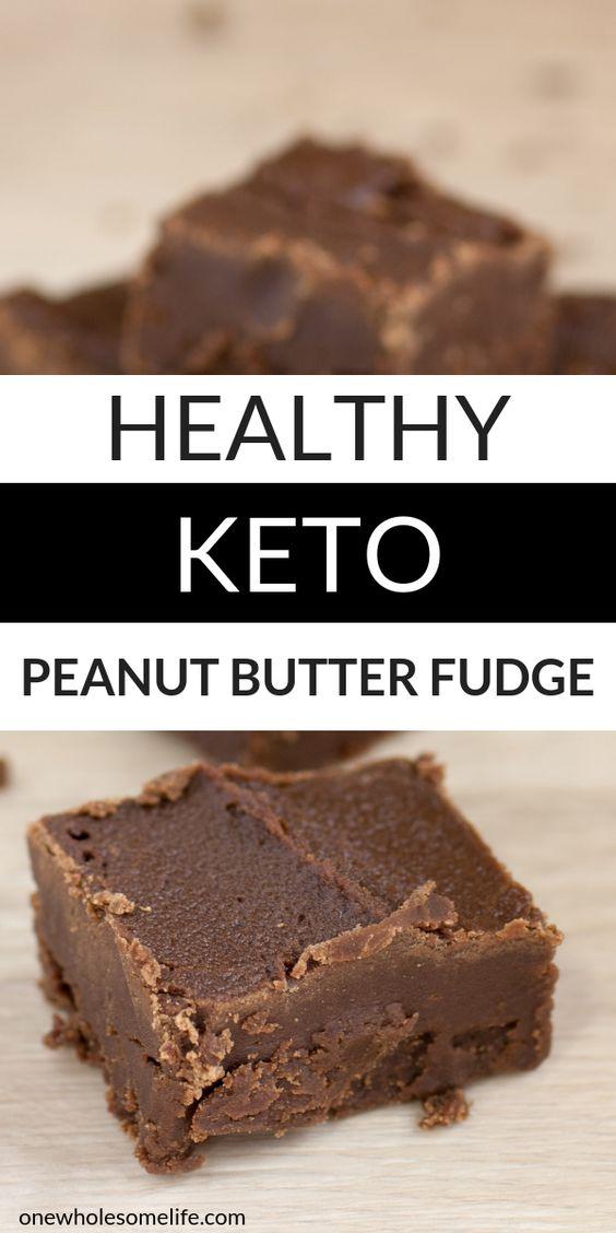 Healthy Keto Peanut Butter Fudge